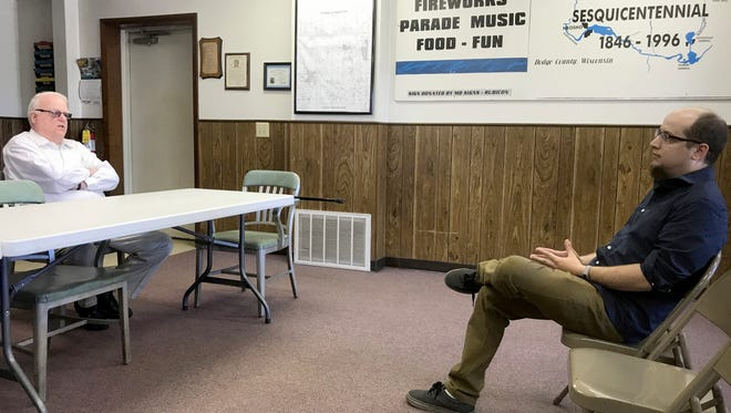 Republican U.S. Rep. Jim Sensenbrenner holds a town hall meeting in the town of Rubicon (pop 2,249) with just one constituent in attendance. Dave Mantz had the floor to himself. The two politely discussed their differences on net neutrality, then discussed them a little more.
