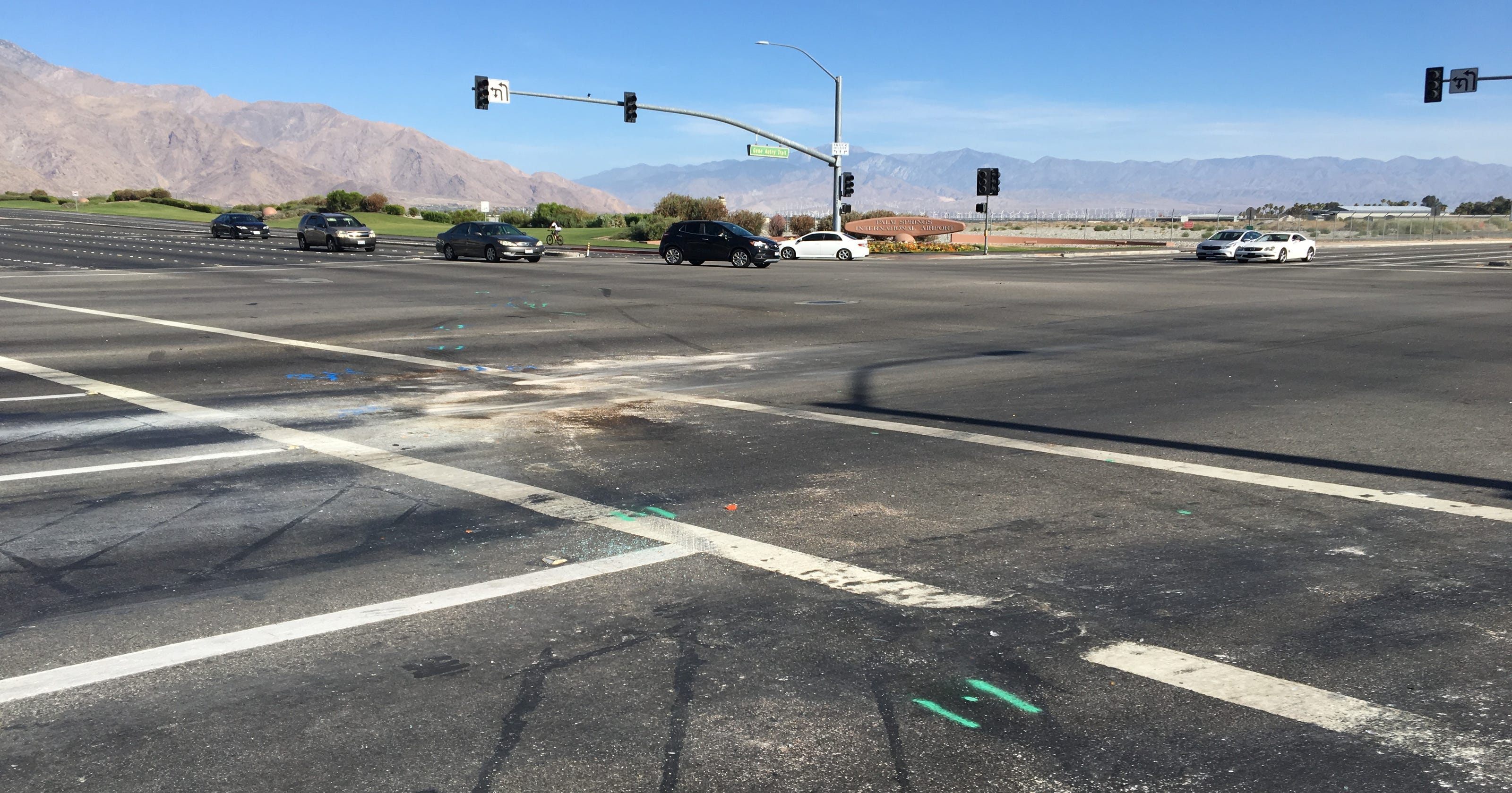 Palm Springs collision left woman with life-threatening injuries