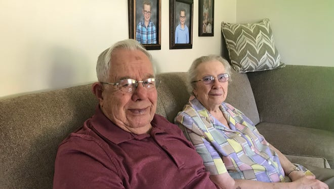About 50 members of Rev. Orrin and Mildred Christian's family gathered in Endicott Sunday to celebrate the couple's 70th anniversary.