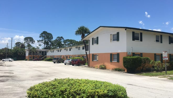The Village Green apartment complex on Dixon Boulevard in Cocoa where Officer George Menendez was cited for multiple policy violations.