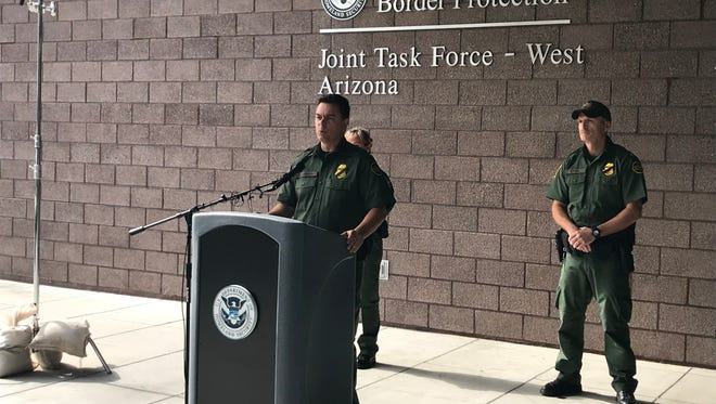 Tucson's Border Patrol Chief Rodolfo Karisch provides an update on an agent that was shot near Arivaca on Tuesday morning.