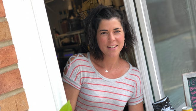 The Queen Bean Drive-Thru Coffee has opened in Staunton's Terry Court on Augusta Street. Pictured here is owner Erin Etzel.