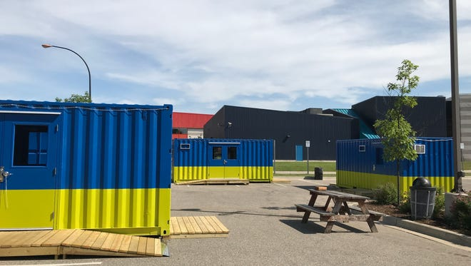 BC Cargo, downtown Battle Creek's shipping container pop-up stores, open on Saturday, June 16.