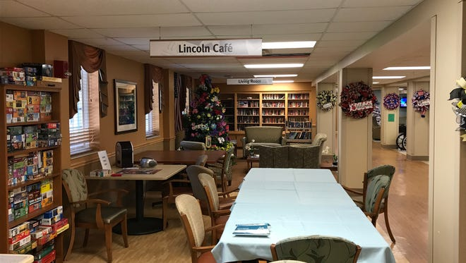 Shown is one of the community areas in one of two of the Chillicothe VA Medical Center's Community Living Center buildings. Such areas provide the opportunity for veterans to socialize and welcome family members who are visiting.