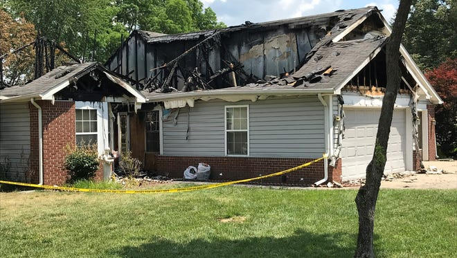Firefighters responding Saturday night to a blaze at 3100 Cedar Lane discovered  87-year-old Patricia Riehle dead inside the house. The fire and Riehle's death are under investigation.