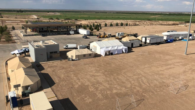 An image of the shelter being used to house unaccompanied minors in Tornillo, Texas.