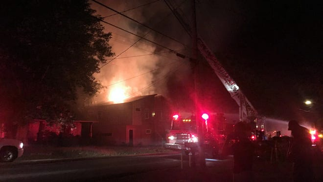 "A blaze, later deemed an arson, recently broke out in one of two ""tall and skinny"" homes under construction at 1729 Pecan St in North Nashville."
