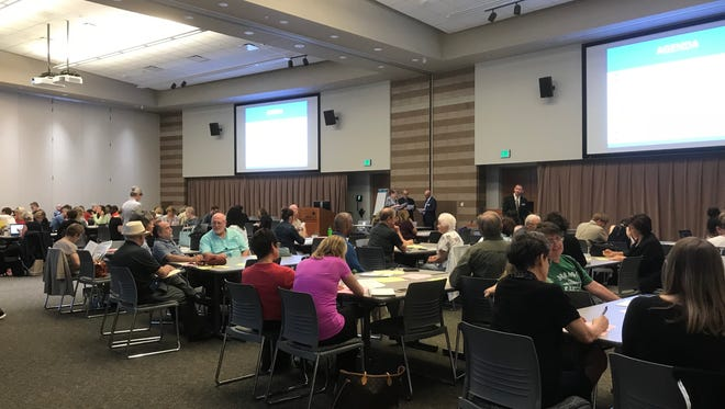 A big crowd showed up in Waterford Wednesday to provide feedback on the controversial revisions to social studies standards in Michigan.