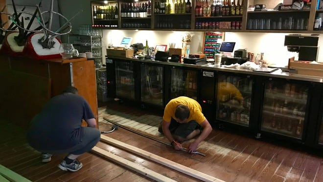 Staff at Fermentation Lounge have been working overtime lately to complete renovations in the tasting room, including working for hours after they close at midnight and early in the day before Ferm opens each afternoon at 4 p.m.