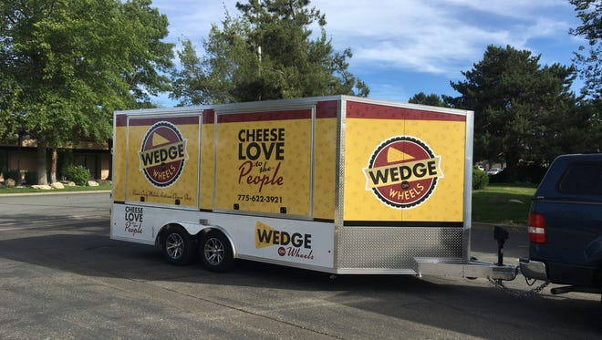 Wedge on Wheels cheese trailer, the former Wedge Cheese Shop, is debuting at 5 p.m. June 21 in the lot across from Reno Public House on Saint Lawrence Avenue iin Midtown Reno.
