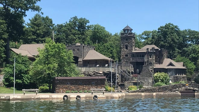 Tiedemann Castle on Greenwood Lake in lower New York State, as seen on June 26, 2018, was put on the market for $14.75 million in June 2018. The home is owned by former New York Yankees shortstop and current Miami Marlins co-owner Derek Jeter.