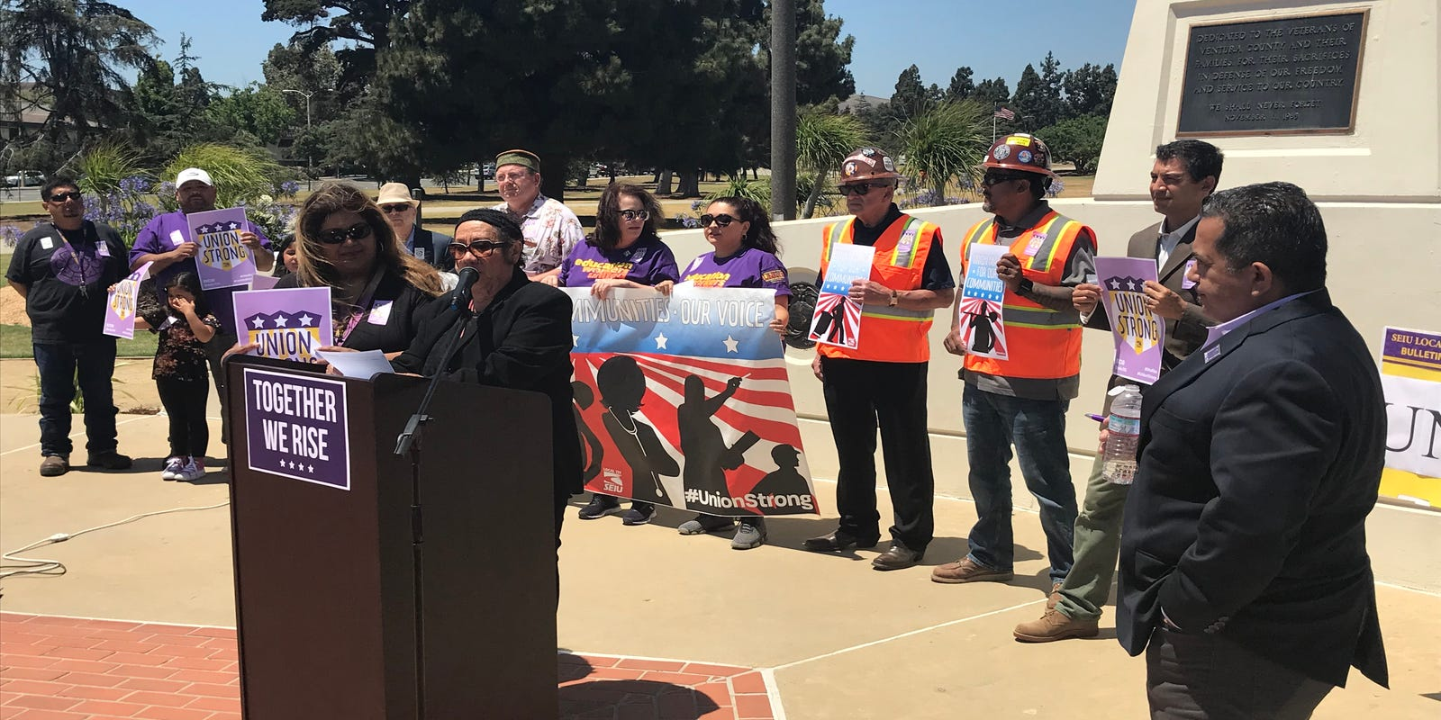 Workers Rally In Ventura To Denounce Supreme Court Ruling On Union Dues
