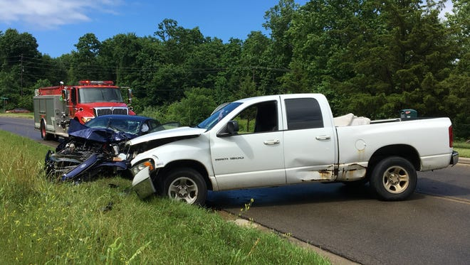 Multiple people were injured in a crash on Bowman Street Road near Old Bowman Street Road on Wednesday, June 27, 2018.