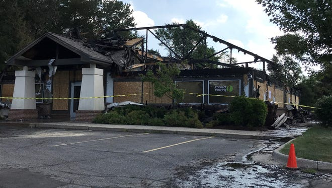 A standalone building that houses two medical businesses was destroyed Sunday morning in Delta Township.