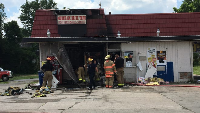 The Mansfield Fire Department responded to a fire Sunday morning at the Mountain Drive Thru, 481 Springmill St. The cause of the fire remains under investigation.