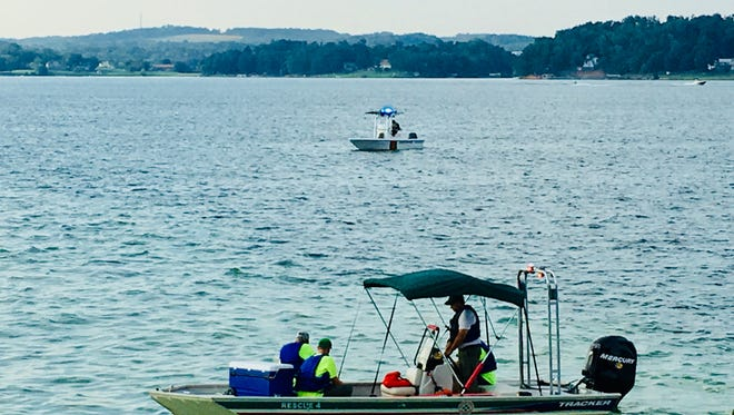 Rescue crews are searching for a 24-year-old Virginia man who went missing in Douglas Lake Wednesday afternoon after struggling while swimming.