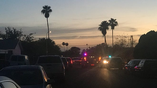Tempe police were at the scene of a shooting involving officers near 48th Street and Southern Avenue on July 5, 2018.
