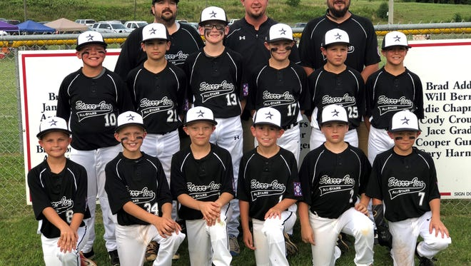 The Starr-Iva All-Stars won the Dixie Youth District 3 tournament, and now head to the state tournament starting July 14. In front, from left to right, are Hunter Phillips, Brody Garren, Aiden Jenkins, Owen Dilello, Braxton Tillman and Logan Vaughter. Second row, left to right, are Jake Vaughter, Corey Hudson, Cason Shaw, Jakob Johnson, Hunter Goldsmith and Carter Gentle. In back, left to right, are Perry Tillman, Brooks Vaughter and Nick Dilello.