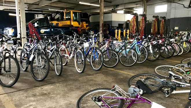 Bikes available for purchase at the Collingswood Police Bike Auction