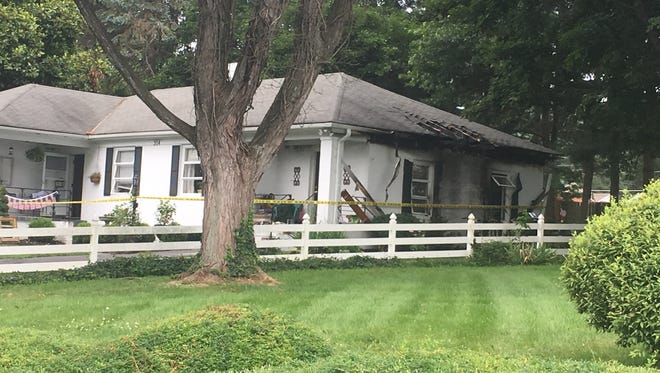 A Staunton fire official said fireworks were to blame for a blaze that heavily damaged a home Wednesday on Valley View Drive.