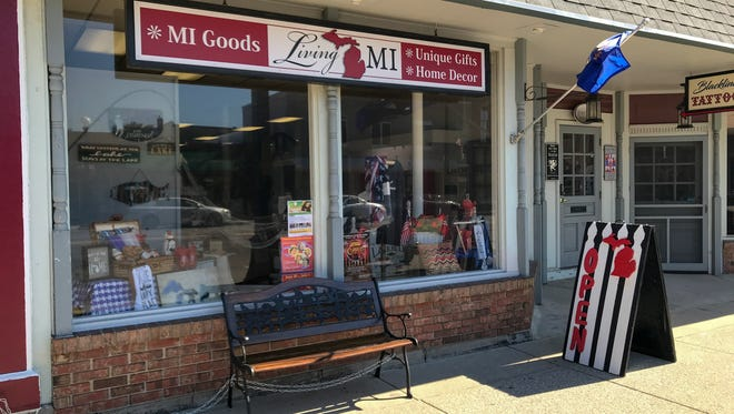 Customers will find all sorts of Michigan-themed and made-in-Michigan products, from lighthouse socks to Upper and Lower Peninsula ice cube trays, at Living MI, a new gift store in Marshall.