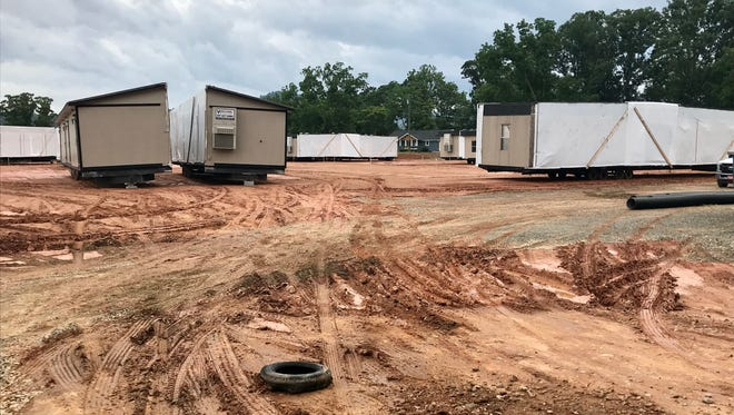 IC Imagine Charter School will use temporary modular classrooms for middle and high school students this coming school year at its new campus on McIntosh Road. The school is building a permanent, 115,000-square-foot, three story school on the property.