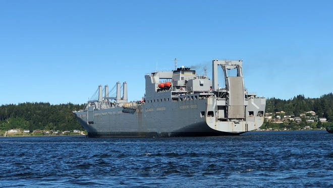 Military Sealift Command's USNS Fisher departed Bremerton last night for sea trials following an in-port maintenance period.