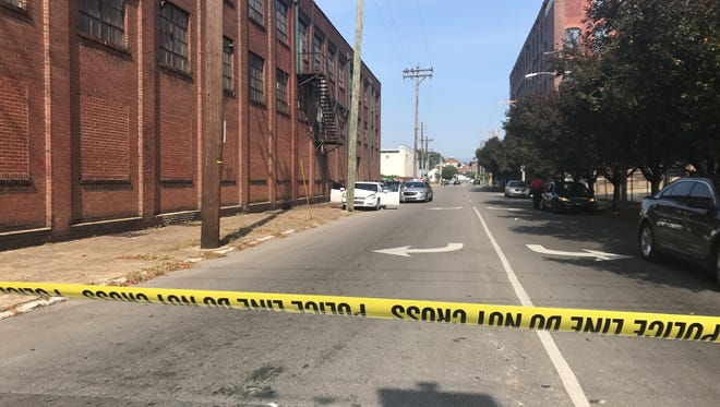 The scene of a drive-by shooting in Old Louisville.