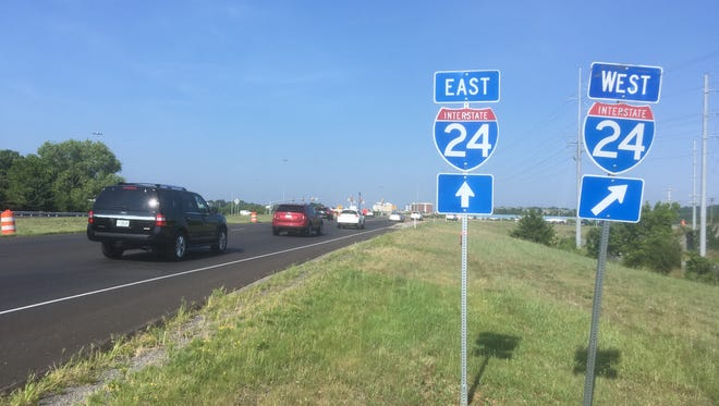 Lane closures due to resurfacing will take place on I-24 in Cheatham County.