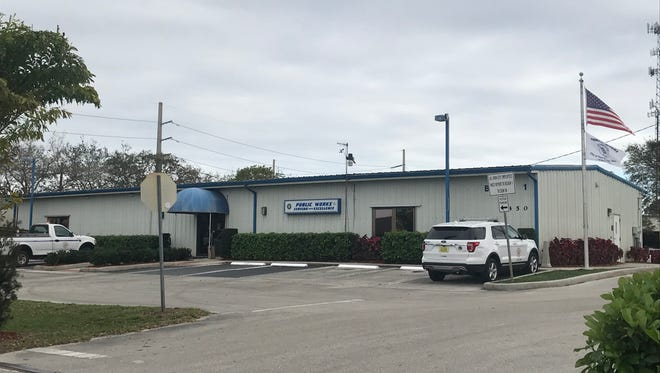 Building 1 at the Port St. Lucie Public Works Complex on Thornhill Drive.