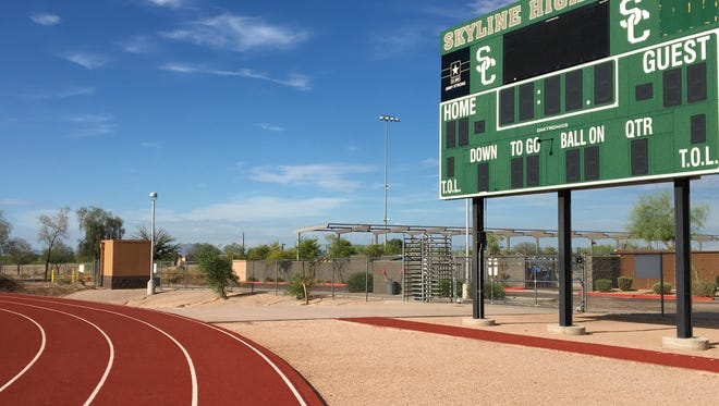 Skyline High School's track and field area, pictured on July 17, 2018. A former Skyline track coach has been accused in a federal civil lawsuit of misconduct with a student.