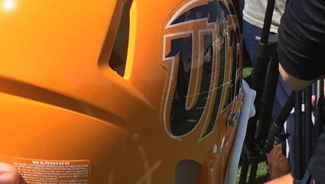 UTEP introduced its new football helmet Tuesday.