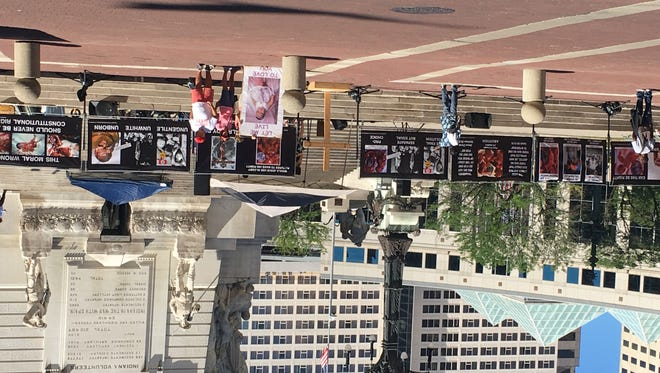 Operation Save America protests abortion on Monument Circle.