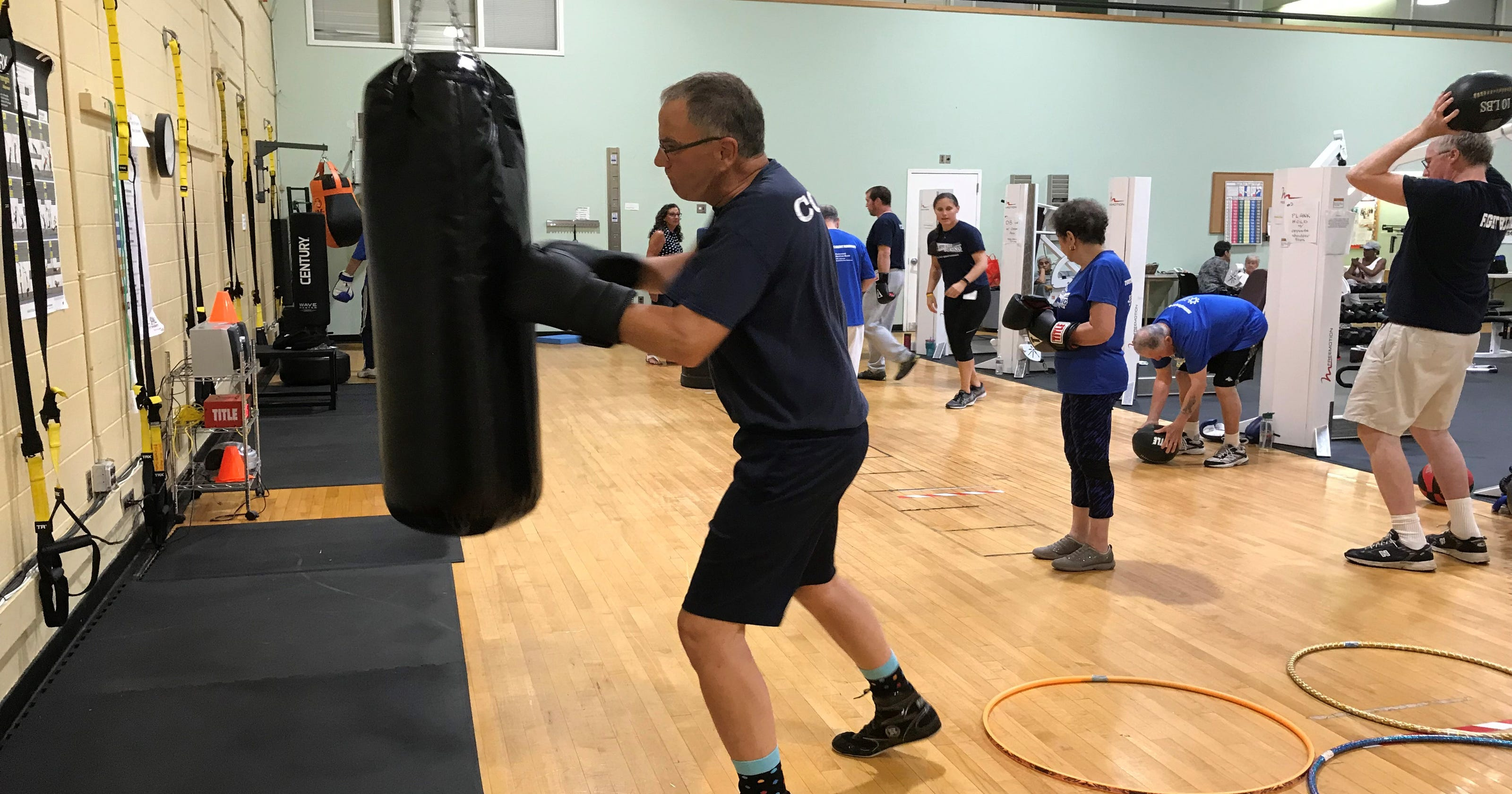 Rock Steady Boxing takes a punch at Parkinson's disease during