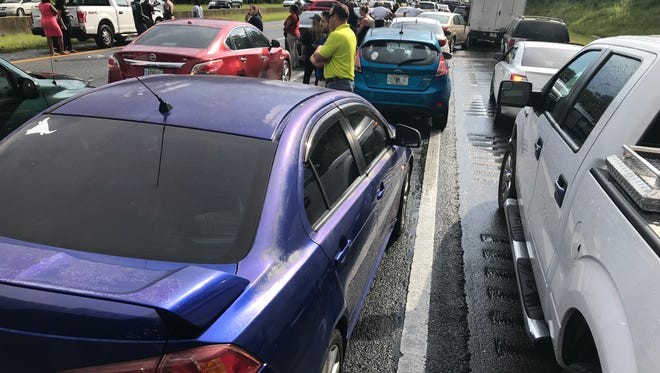 Motorists reported traffic on I-10 was at a standstill for more than an hour with drivers exiting their vehicles to discuss the crashes.