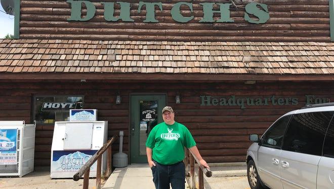 Chad Wegner stands outside Dutch's Trading Post, 258 N. Main St., Fond du Lac.