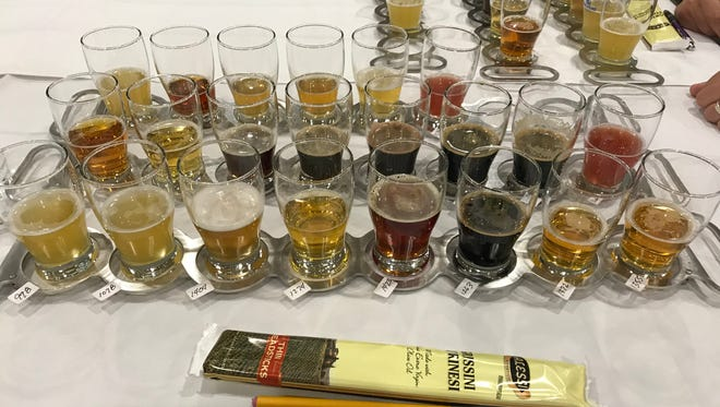 The 22 beers that qualified for the best in show competition at the second annual New York State Craft Beer Competition in Henrietta Saturday.