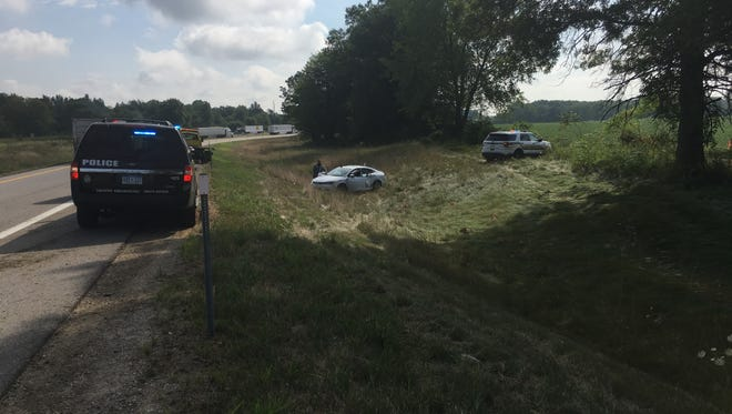 Calhoun County deputies were able to stop a car near I-94 and Columbia Avenue Friday after a nearly 30 minute pursuit.