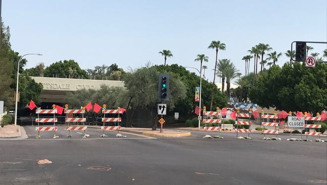 Scottsdale's Drinkwater Bridge, which the Civic Center Mall sits upon, requires emergency repairs.