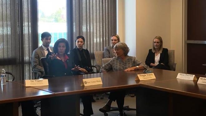 U.S. Sen. Catherine Cortez Masto, D-Nev., speaks at a roundtable with pro-choice advocates on Aug. 17, 2018.