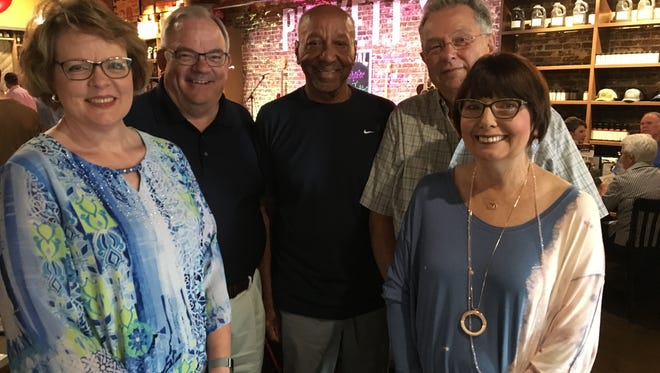 Mary and Brent Forsythe, Arthur Ford, Bob Doudican and Diane Gobe at Connecting on the Square: Pickin' at Puckett's to benefit The Journey Home on Aug. 23, 2018.
