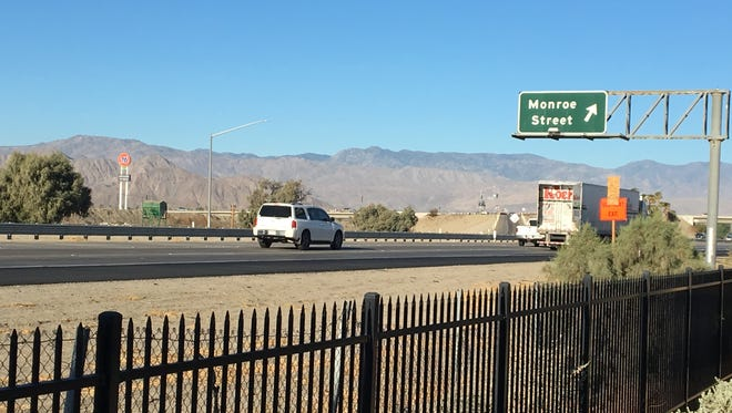 Traffic heads west on Interstate 10 in an area that's undergoing a paving project that's expected to last into 2019.