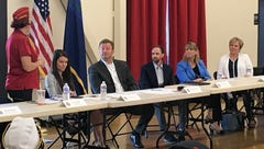 Heller hits back at health care critics, talks tough about campaign opponent in Reno stop