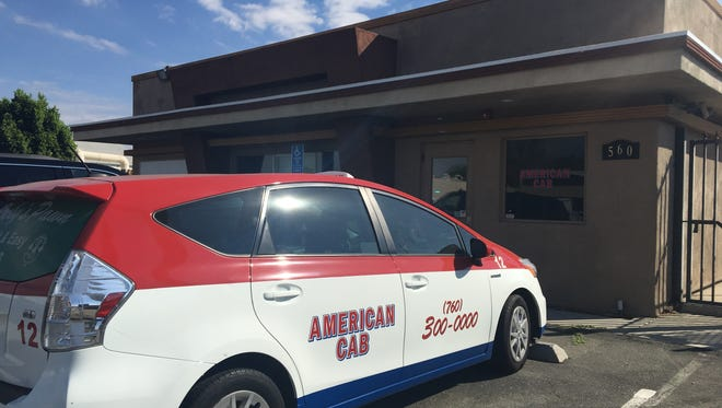 This photo shows American Cab's office on Williams Road in Palm Springs.
