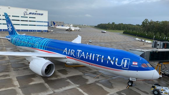 Air Tahiti Nui showed off its first Boeing 787 Dreamliner
