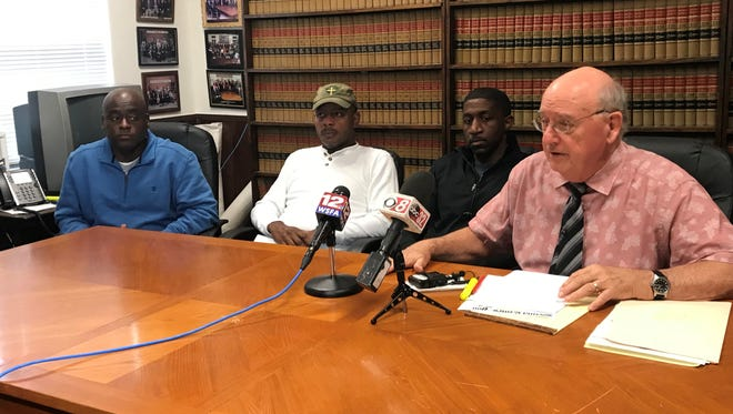 Montgomery attorney Julian McPhillips speaks at a Nov. 2 press conference after the arrests of his clients, three Selma police officers accused of providing false information in an attorney general's investigation.