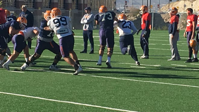 Bobby DeHaro is the only UTEP offensive lineman who has started every game this year