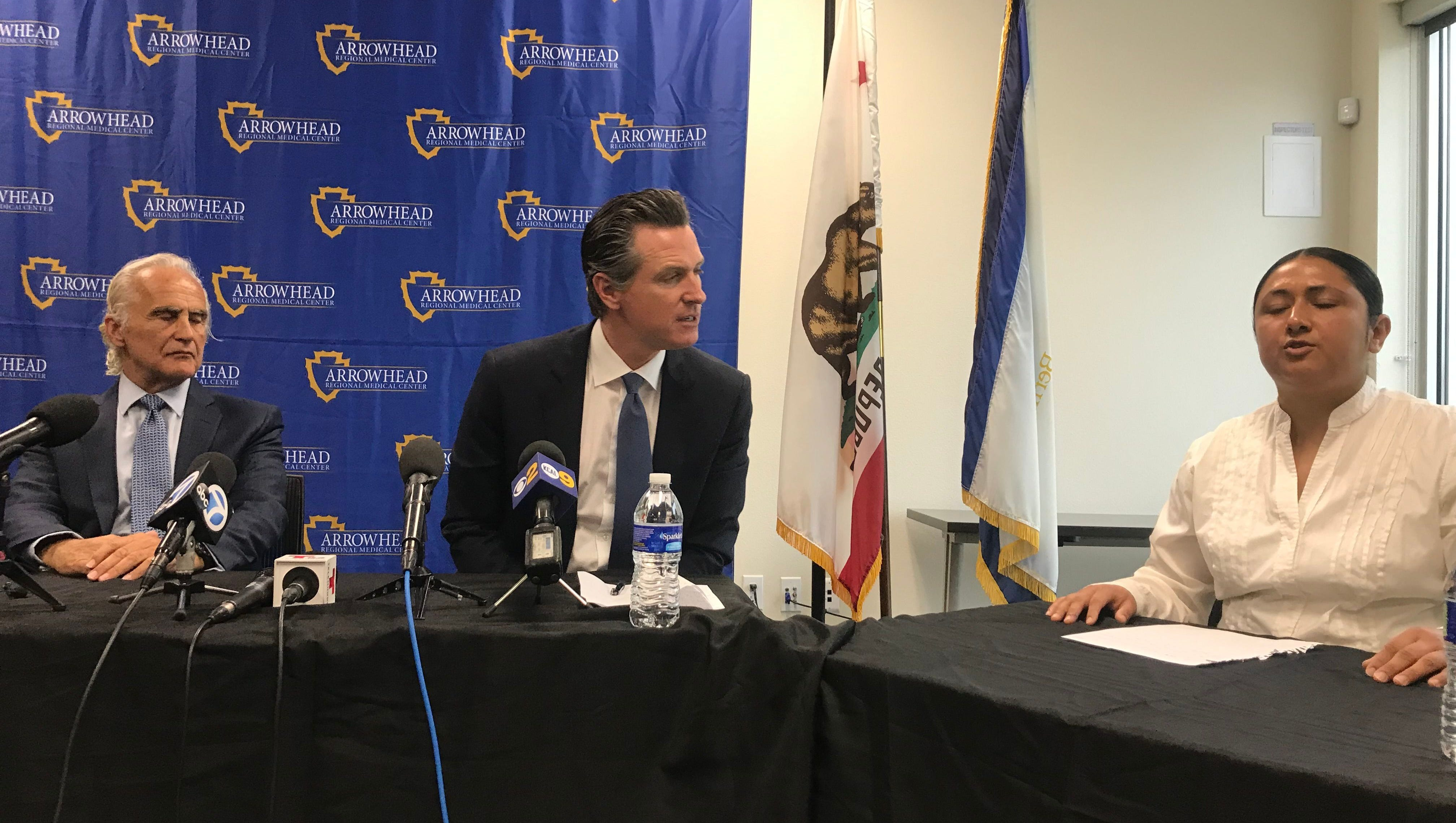Homelessness in the valley: Gov. Newsom: 'You have my commitment that I won't cut homeless funding'