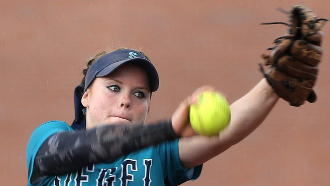 Siegel senior Veronica Westfall finished 40-4 with 353 strikeouts. She also hit .412 with 23 doubles and eight home runs. She was also the District 7-AAA MVP.