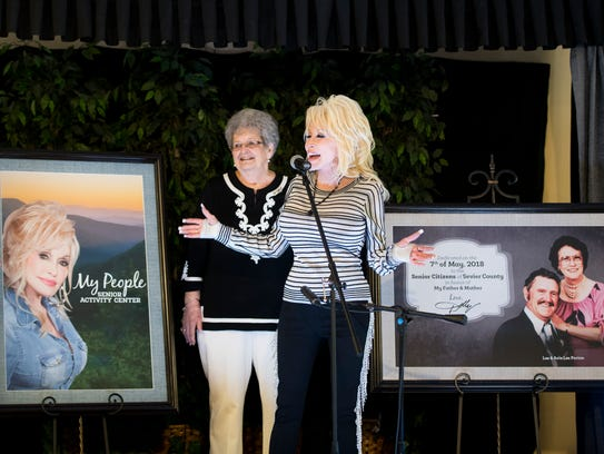 Dolly Parton speaks at the newly renamed My People